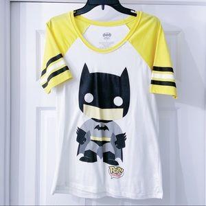 Batman Funko POP Heroes Baseball Yellow Tee